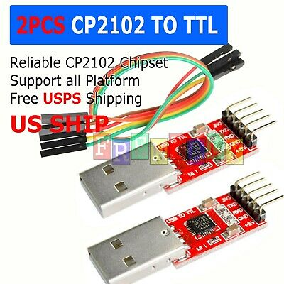 CP2102 USB 2.0 to UART TTL 5PIN Module Serial Converter Adapter Red+Silver TS