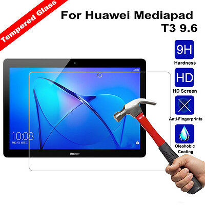9H Premium Tempered Glass Screen Protector Shield For Huawei Mediapad T3 9.6 NEW