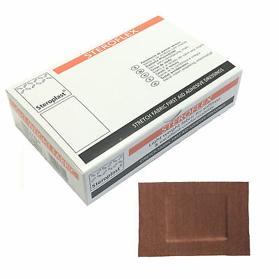 1 Box of Steroplast Steroflex Stretchy Flexible Adhesive Large 7.5x5cm Plasters