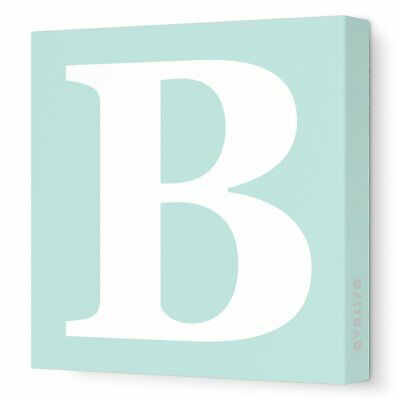 """Avalisa Stretched Canvas Upper Letter B Nursery Wall Art, Seagreen, 12"""" x 12"""""""