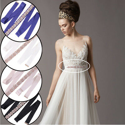 Wedding Bridal Belt Crystal Rhinestone Appliuque Dress Sash Wedding Sash Belt
