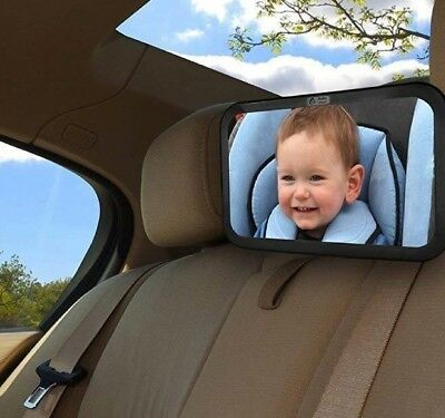 Baby Mirror Car Rear View Back Seat Mirror & Suction Holder Shatterproof Glass