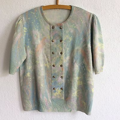 Vintage 80's pullover bunt muster S/M