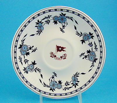 White Star line Authentic Titanic Replica 2nd Class Saucer