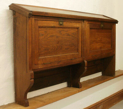 Antique solid oak church (?) storage cupboard - Lovely useful piece