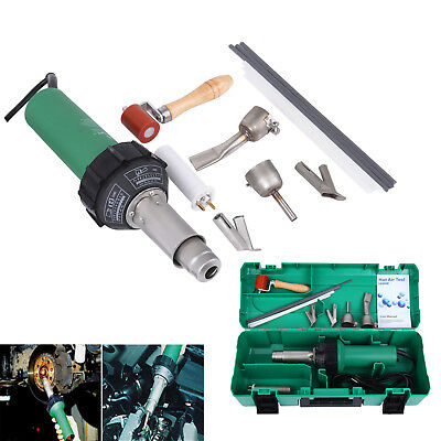 110V 1600W Hot Air Torch Plastic Welder Heat Gun Pistol Welding Kit 40-600°C