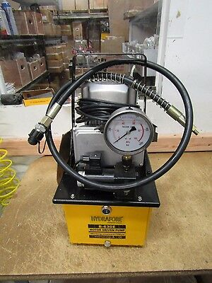 USED Electric Hydraulic Pump Single Acting Remote Magnet Valve 10000 PSI B-630E