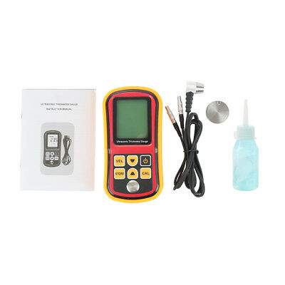Digital Ultrasonic Thickness Tester Sound Velocity Gauge Meter 1.2~220mm GM100
