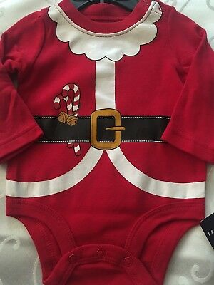 NEW Falls Creek Infant Unisex Santa Claus One Piece Red Size 0-3M