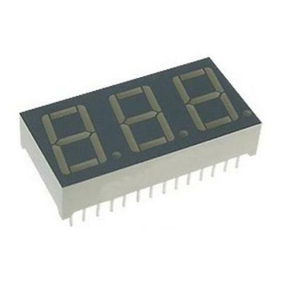 13 x Kingbright BA56-12SEKWA 3 Digit 7-Segment LED Display, CA Orange 120mcd
