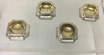 Set of 4 William Comyns Sterling Salt Trenchers