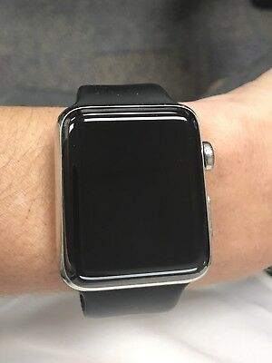 Apple Watch Series 2 42mm Stainless Steel Case Black Sport Band - (MP4A2LL/A)
