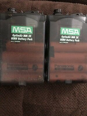 2 Used MSA NiMH Battery Packs And Chargers for OptimAir MM 2K