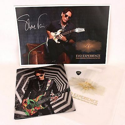 Steve Vai EVO Experience SIGNED Lithograph Print Anniversary Tour Book + Pick