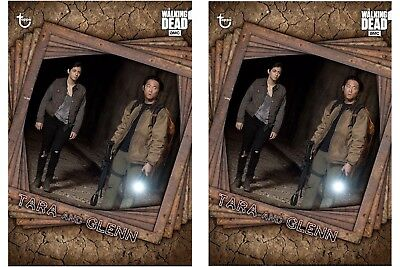 2x TRAPPED MARATHON TARA & GLENN The Walking Dead Card Trader Digital