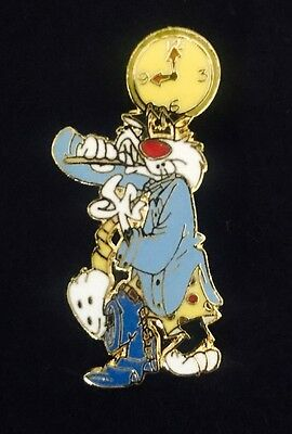 Vtg WB Warner Bros Brothers Looney Tunes Sylvester Morning Always Late Lapel Pin