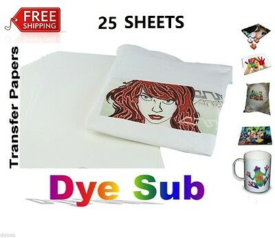 Sublimation Paper Heat Transfer Paper Inkjet Printer 25 Sheets A4 8x11