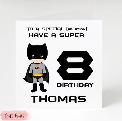 Lego Movie Batman Personalised Birthday Card Son Brother Sister