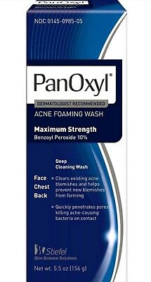 PanOxyl 10% Acne Foaming Wash Maximum Strength 5.5 oz (Old Formula) No box New