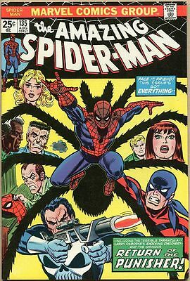 Amazing Spider-Man #135 - VF- - 3rd Appearance Of The Punisher