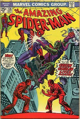 Amazing Spider-Man #136 - FN+ - 1st Appearance Of Green Goblin II