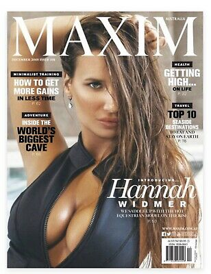 MAXIM AUSTRALIA- DECEMBER 2019: ISSUE 101 Hannah Widmer Cover Page- Latest Issue