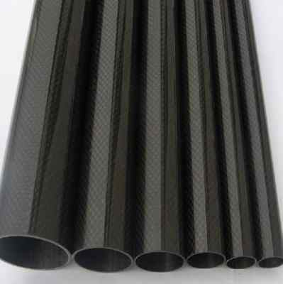 2pcs Roll Wrapped 45mm x 43mm x 500mm Twill Glossy Surface 3K Carbon Fiber Tube
