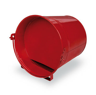 NEW 4L GLOSSY PAINTED METAL BUCKET POULTRY DRINKER (CHOOK Duck CHICKEN) RED