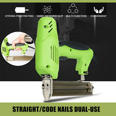 Electric Straight/ Code Nails Gun U Type Nail Double Use Staple Woodworking Tool