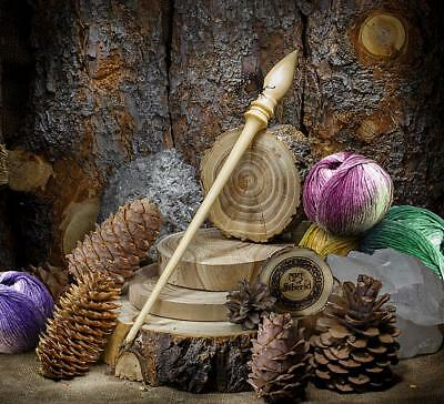 SPINDLE FOR SPINNING NATURAL SIBERIAN CEDAR WOOD for NEEDLEWORK SPINNING #B23