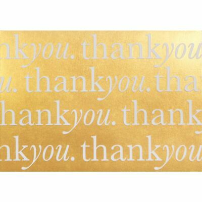 Cristina Re A6 Thank You Postcards Gold 10 Pack