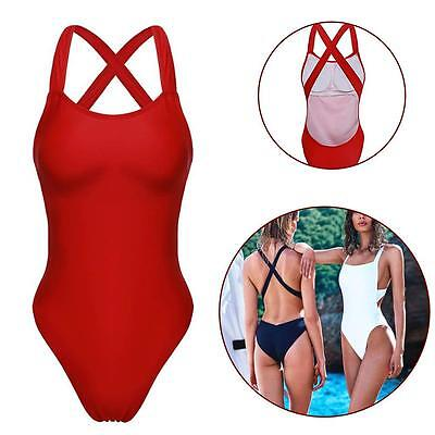 Womens One Piece Bikini Monokini Swimsuit Padded Push Up Swimwear Beachwear SX