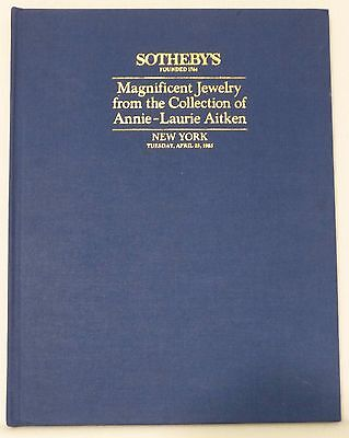 Sotheby's Magnificent Jewelry Collection of Annie-Laurie Aitken New York 4/23/85