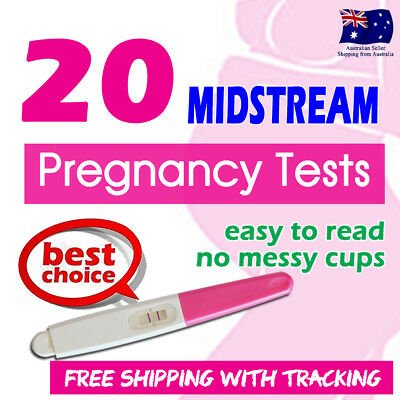 20x Midstream Pregnancy Tests Sensitive Urine Strips HPT Kits Easy to Read