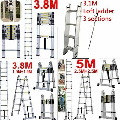 5.0M 3.8M Multi-Purpose Aluminum Telescopic Folding Ladder Step Extension Extend