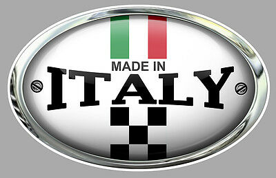 MADE IN ITALY ITALIE FIAT 500 ABARTH 12cm AUTOCOLLANT STICKER AUTO MOTO MB038