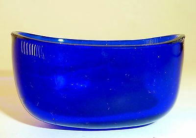 VINTAGE COBALT BLUE glass SALT CELLAR dish LINER replacement part (1 of 3 avail)