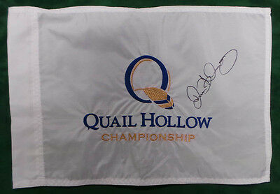 Rory McILROY RARE SIGNED AUTOGRAPH AFTAL COA Quail Hollow Golf Flag Winner