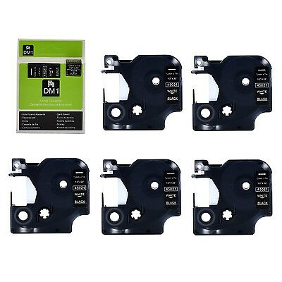 1x 2x 3x 5x compatible Dymo D1 45021 White on Black 12mm for Dymo label manager