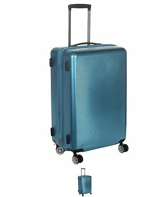 SALDI Firetrap ABS Suitcase Metallic Blue