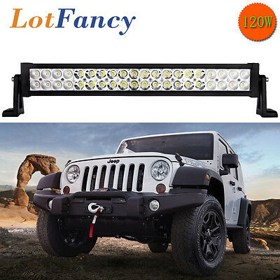 "21"" 120W LED Work Light Bar Flood Spot Beam Offroad Driving Fog Lamp ATV SUV UTE"