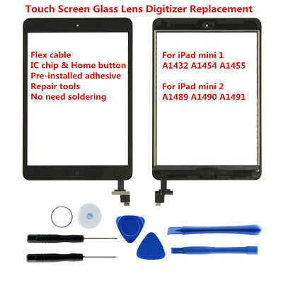 For iPad mini 1 A1432 A1454 A1455 Mini2 A1489 A1490 A1491 Touch Screen Digitizer