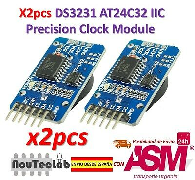 2pcs DS3231 AT24C32 IIC Module Precision Clock Module DS3231SN for Arduino
