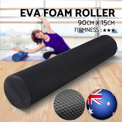 90x15cm EVA PHYSIO FOAM AB ROLLER YOGA PILATES EXERCISE BACK HOME GYM MASSAGE AU