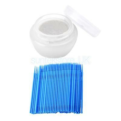 Eyelash Extension Cream Type Glue Remover + 100pcs Disposable Lash Swabs Set