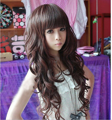 2017 New Style Women Long Curly Wavy Full Wig Heat Resistant Hair Cosplay Party