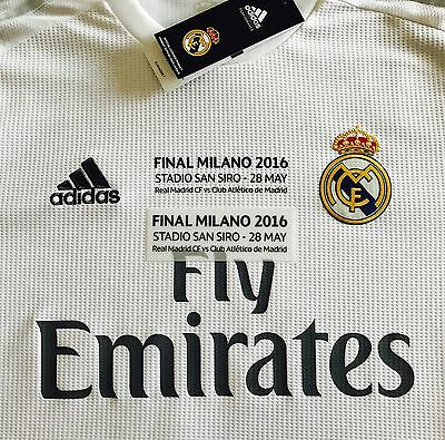 Final UCL Milano 2016 Match Details for Real Madrid shirt Sipesa Official