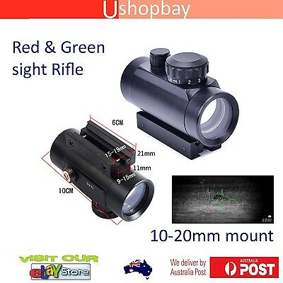 Tactical Holographic Sight Green Red Dot Sight Scope 1x40RD Cross Riflescope