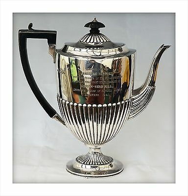 1890 Victorian Sterling Silver Coffee Pot(623gm). Cowan-Head Mill Kendal Cumbria