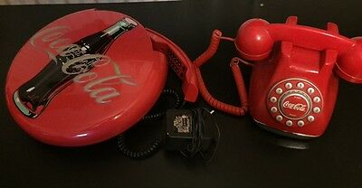 COCA COLA  DUAL NEONS   LIGHT and   MUSICAL DISC TELEPHONE /3A6